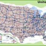 Usa Road Map | Printable Map Of The United States With Interstates