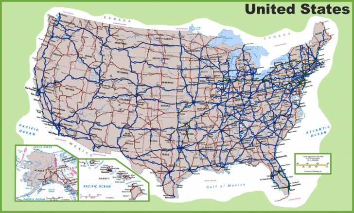 Printable Map Of The United States With Interstates