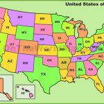 Usa State Abbreviations Map | Free Printable Map Of Usa With Abbreviations