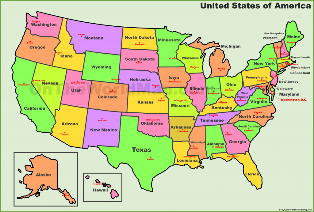 Usa States And Capitals Map | Printable Clear Map Of The United States
