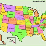 Usa States And Capitals Map | Printable Map Of The United States With State Names And Capitals