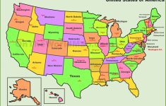 Usa States And Capitals Map | Printable Map Of Usa With Capitals