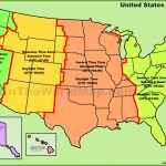 Usa Time Zone Map | Printable Map Of The United States With Time Zones
