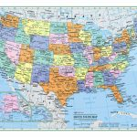 "Usa United States Wall Map Color Poster 22""x17""   Large Print Rolled 