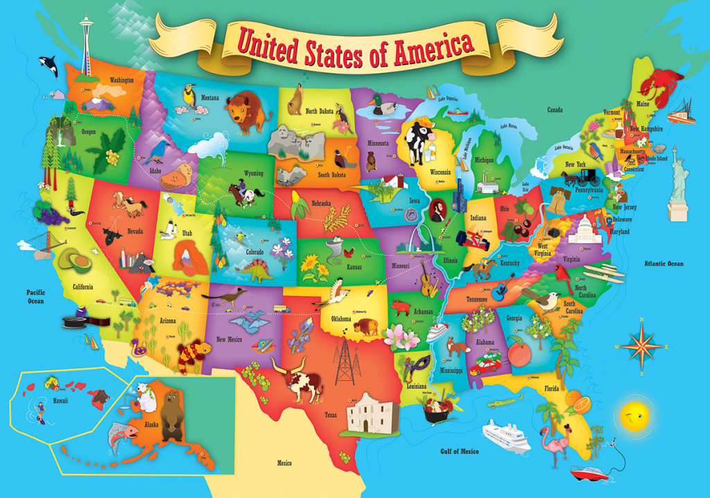Usa Wood Map Jigsaw Puzzle | Puzzlewarehouse | Printable Map Of Usa Jigsaw Puzzle