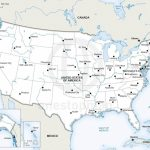 Vector Map Of United States Of America | One Stop Map | Large Printable Map Of The United States With Cities
