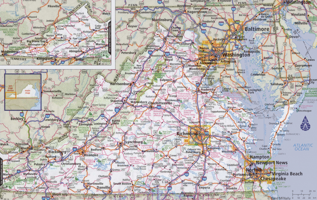 Virginia Road Map | Large Printable Us Road Map