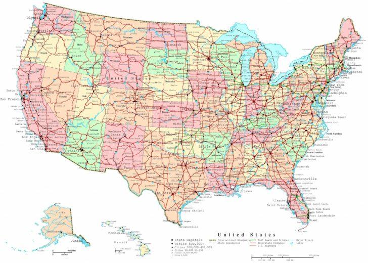 Printable Road Map Of Western Us