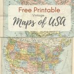 Wonderful Free Printable Vintage Maps To Download   Pillar Box Blue | 8 X 10 Printable Usa Map