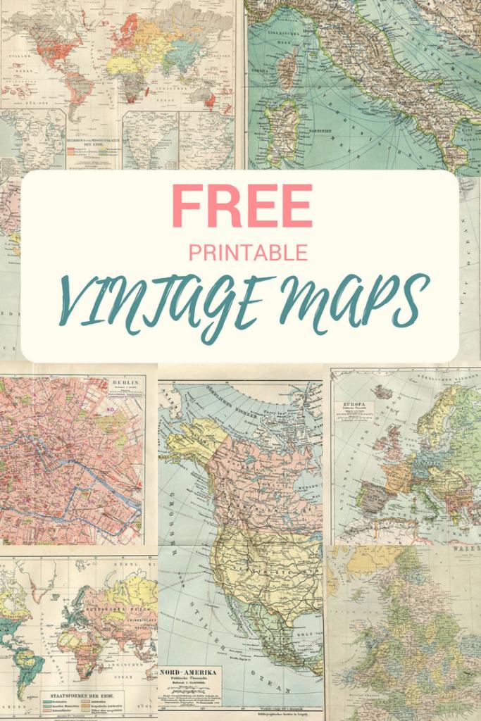 Wonderful Free Printable Vintage Maps To Download - Pillar Box Blue | Printable Vintage Us Map