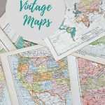 Wonderful Free Printable Vintage Maps To Download   Pillar Box Blue | Printable Vintage Us Map